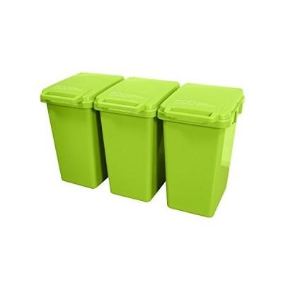 ゴミ箱 おしゃれ 屋外 ダストボックス ごみ箱 45リットル連結ワンハンドペール45L 3個セット(B663-3)