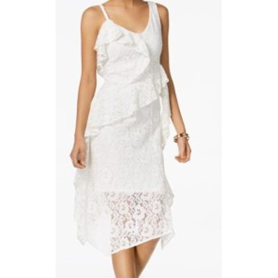 taylor テイラー ファッション ドレス Taylor Womens Dress White Size 16 Ruffled Lace Midi Sheath V-Neck