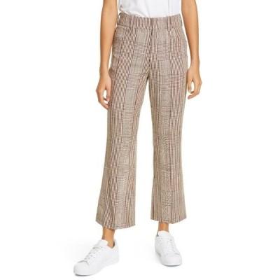 リダン レディース カジュアルパンツ ボトムス 70's Plaid High Waisted Trousers PLAID