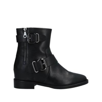 ELVIO ZANON ショートブーツ ファッション  レディースファッション  レディースシューズ  ブーツ  その他ブーツ ブラック