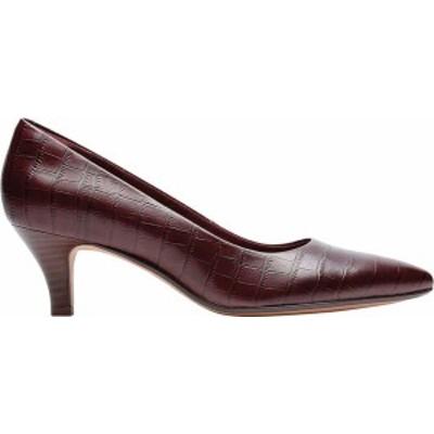 クラークス レディース パンプス シューズ Linvale Jerica Pump Burgundy Croc Leather