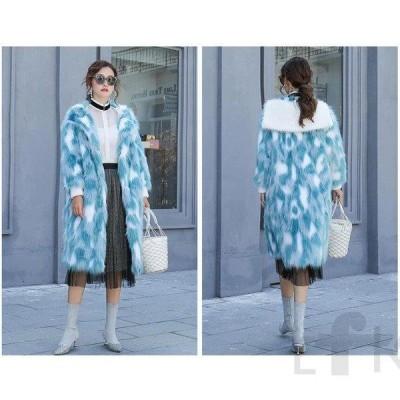 レディース ファーコート 毛皮コート フォクス ショットコート おしゃれ 上着 暖かい 秋冬 防寒 お洒落 レディースファッション