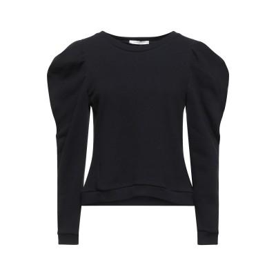 BIANCOGHIACCIO スウェットシャツ ブラック S コットン 100% スウェットシャツ