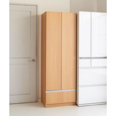 食器もストックもたっぷり収納!天井ぴったりキッチンシリーズ 食器棚 幅60cm奥行45cm ホワイトシカモア
