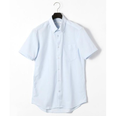 COMME CA MEN/コムサ・メン コンフィールトリコット ドレス半袖シャツ サックス S