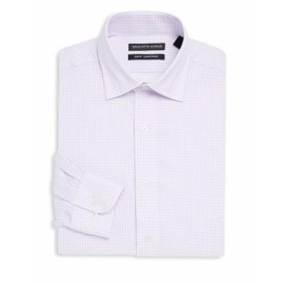 サックスフィフスアベニュー メンズ ドレスシャツ ワイシャツ Cotton Slim-Fit Shirt