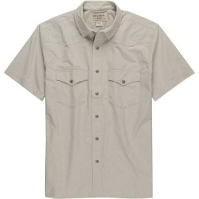 フィルソン メンズ シャツ トップス Snap Front Short-Sleeve Shirt Sandstone
