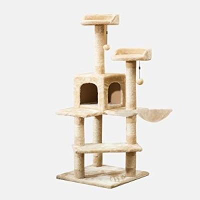 TENCMG猫の木の家具コンド - 大猫の木のマルチレベルアクティビティタワー (中古品)