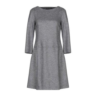 P.COMME ミニワンピース&ドレス グレー 42 ナイロン 53% / バージンウール 45% / ポリウレタン 2% ミニワンピース&ドレス