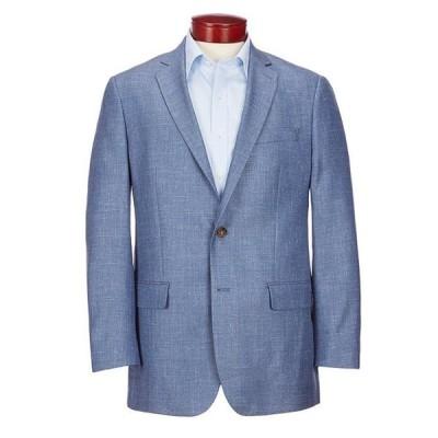 ラルフローレン メンズ ジャケット・ブルゾン アウター Classic Fit Solid Blue Wool Blend Sportcoat