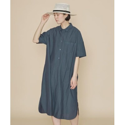 URBAN RESEARCH DOORS/アーバンリサーチ ドアーズ UNIFY Drop Shoulder Shirts One-piece NAVY one