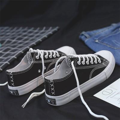 レディース スニーカー カジュアルシューズ ウォーキング フラットヒール ズック靴 女子靴 運動靴