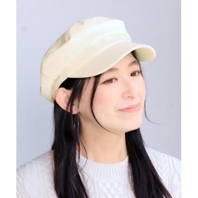 14+(ICHIYON PLUS) / エコレザーキャスケット WOMEN 帽子 > キャスケット