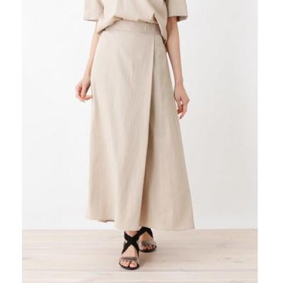 HusHusH / ハッシュアッシュ リネン風フィッシュテールスカート
