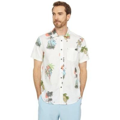 ビラボン シャツ トップス メンズ Sunday Floral Short Sleeve Woven Off-White