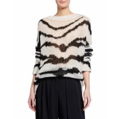 ステラマッカートニー レディース ニット・セーター アウター Tiger Intarsia Wool Sweater TIGER