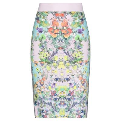 ANGELO MARANI ひざ丈スカート ピンク 40 レーヨン 83% / ポリエステル 17% ひざ丈スカート