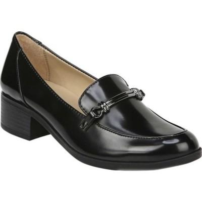 ナチュライザー レディース サンダル シューズ Naples Moc Toe Loafer Black Brush Off Synthetic Leather