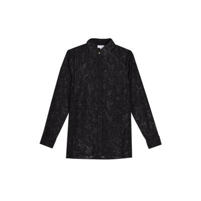 トップショップ TOPSHOP シャツ ブラック 10 ポリエステル 90% / 金属繊維 10% シャツ