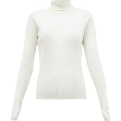 リーボック Reebok X Victoria Beckham レディース トップス Roll-neck ribbed wool-blend top White