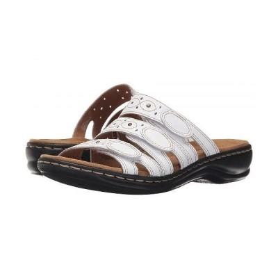 Clarks クラークス レディース 女性用 シューズ 靴 サンダル Leisa Cacti Q - White Leather