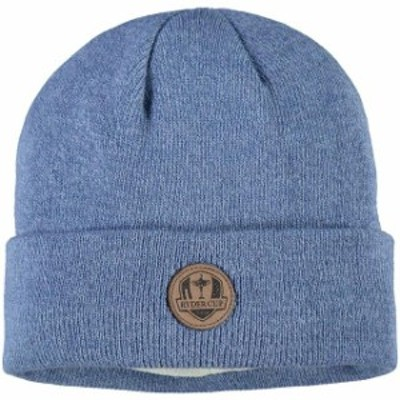 Imperial インペリアル スポーツ用品  Imperial Blue 2020 Ryder Cup Laser-Etched Suede Patch Heathered Knit Hat