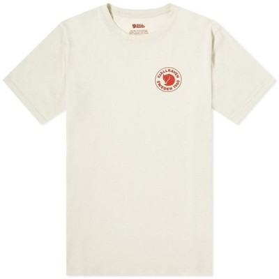 フェールラーベン Fjallraven メンズ Tシャツ ロゴTシャツ トップス 1960 Logo Tee Chalk White