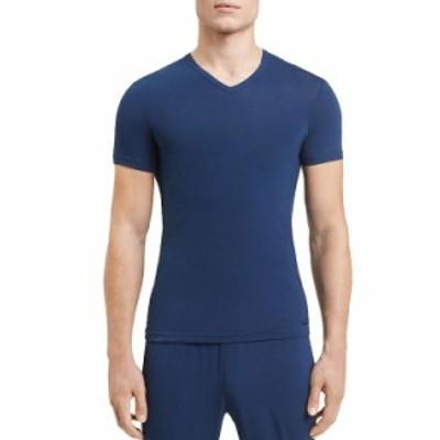 カルバンクライン メンズ Tシャツ トップス V-Neck Tee Blue