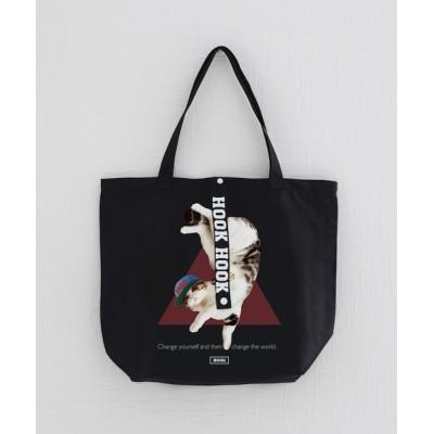 aimoha / 【HOOK -original-】数量限定!ユニセックス・ストリート/激カワ オリジナルプリント 折り畳み エコバッグ・トートバック  猫柄 MEN バッグ > トートバッグ