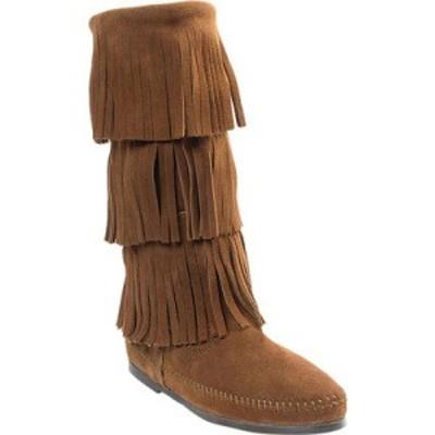ミネトンカ Minnetonka レディース ブーツ シューズ・靴 3 Layer Fringe Boot Dusty Brown Suede