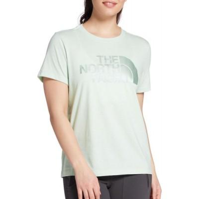 ザ ノースフェイス The North Face レディース Tシャツ トップス Lux Logo Triblend Short Sleeve T-Shirt Misty Jade Heather