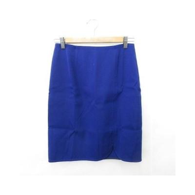 【中古】ボールジー BALLSEY トゥモローランド スカート 台形スカート ひざ丈 スリット ウール 裏地付 青 ブルー36 レディース 【ベクトル 古着】