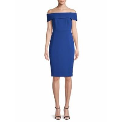 カルバンクライン レディース ワンピース Off-the-Shoulder Sheath Dress