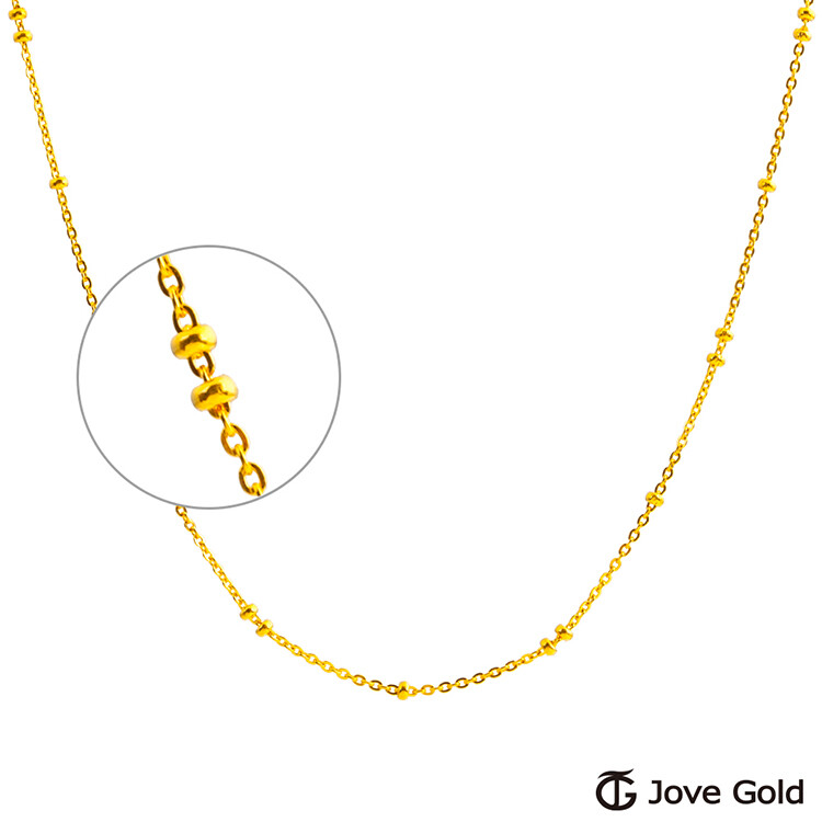 jove gold 漾金飾 小公主黃金項鍊(約1錢)(約1.4尺/42cm)