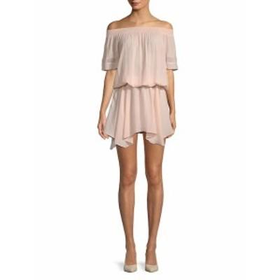 ラミー ブルック レディース ワンピース Jessica Solid Off-The-Shoulder Dress
