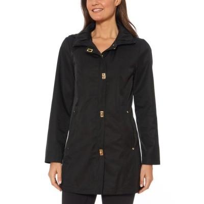 ジョーンズニューヨーク レディース コート アウター Hooded Water-Resistant Raincoat