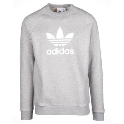 アディダス オリジナルス メンズ adidas Originals Trefoil Crew ロングTシャツ 半袖 Medium Grey Heather