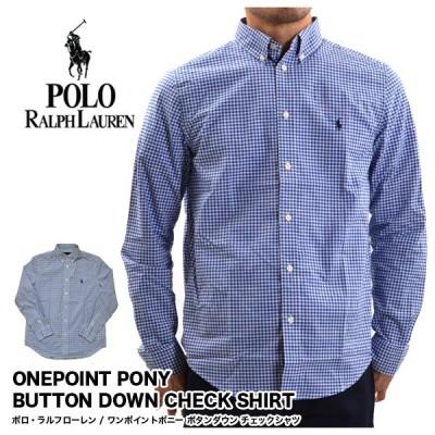 ポロラルフローレン POLO RALPH LAUREN メンズ チェックシャツ ワンポイントポニー 長袖 723041 723042 (メール便対応)