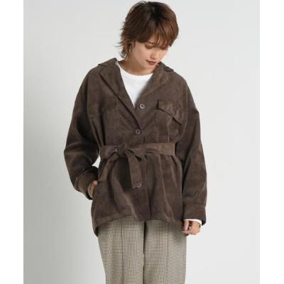 LIPSTAR/リップスター シャツコールジャケット ブラウン M