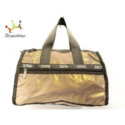 レスポートサック LESPORTSAC ハンドバッグ - ゴールド×グレー ミニボストン 化学繊維   スペシャル特価 20200728