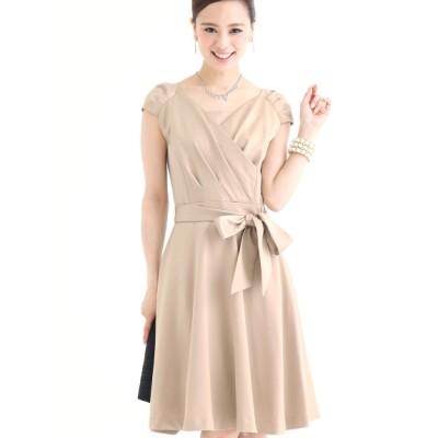 【大きいサイズ】【L-LL】(体型カバー)カシュクールエレガンスドレス [結婚式・二次会・パーティー・女子会・お呼ばれ対応] 大きいサイズ パーティドレス・ワンピース レディース
