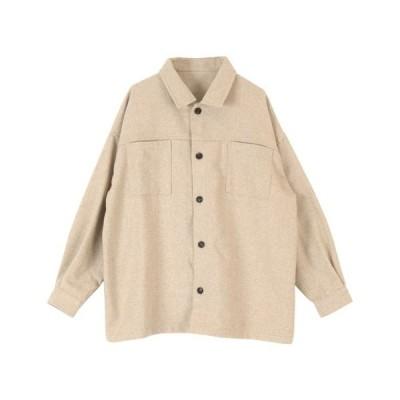 シャツ ブラウス ヘリンボンカバーオールジャケット