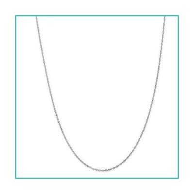 特別価格Solid 18K White Gold 1.1mm Singapore Chain Necklace - with Secure Lobster L好評販売中