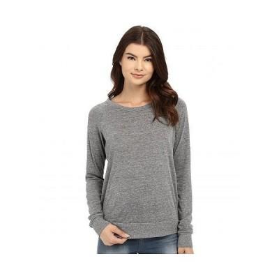 Alternative オルタネイティブ レディース 女性用 ファッション パーカー スウェット Heather Slouchy Pullover - Eco Grey