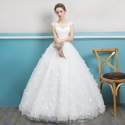 花嫁ドレスウェディングドレスウエディングドレスロングレースドレスロングドレス花嫁ドレスビスチェイブニングドレス結婚式二次会