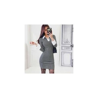 ワンピースOL通勤セクシードレス