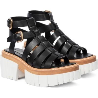 ステラ マッカートニー Stella McCartney レディース サンダル・ミュール シューズ・靴 emilie faux leather platform sandals Black