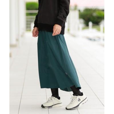 【エコアルフ】 WALLTER ロング スカート / WALLTER LONG SKIRT WOMAN レディース グリーン XS ECOALF