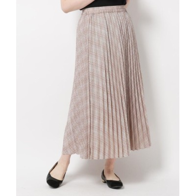 THE SHOP TK(Women)(ザ ショップ ティーケー(ウィメン)) チェックプリーツスカート