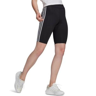 アディダス カジュアルパンツ ボトムス レディース Women's High-Waisted Biker Shorts Black